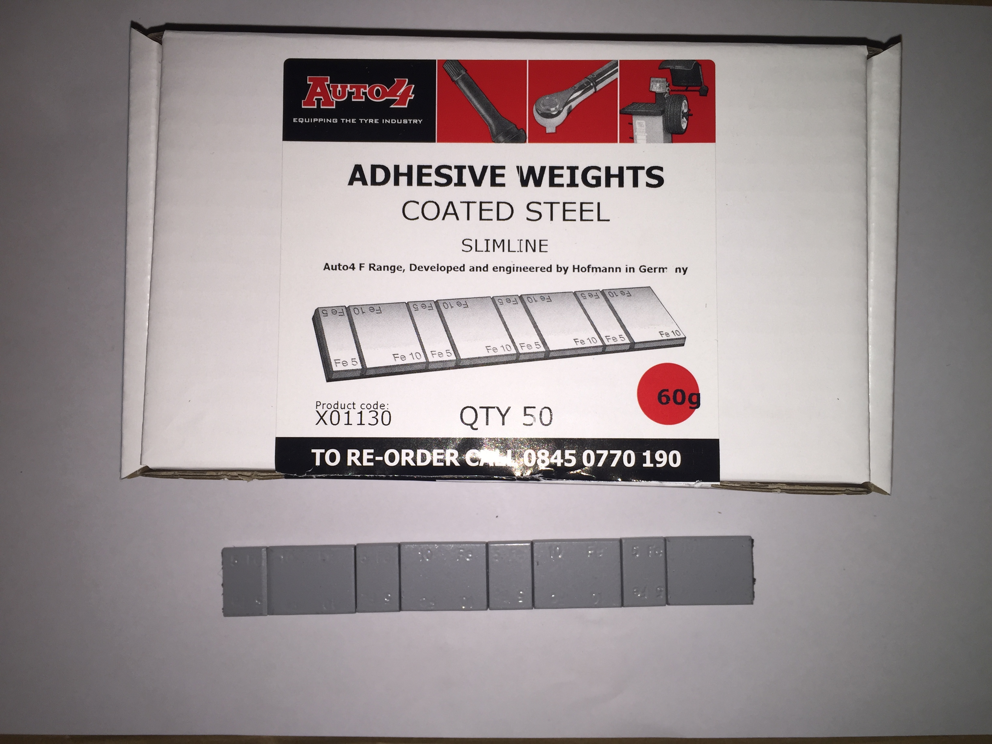Steel Premium Adhesive Weights 10/5g Coated 50}